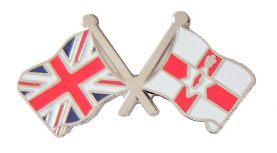 Northen Ireland & United Kingdom Flag Friendship Pin Badge - T4082