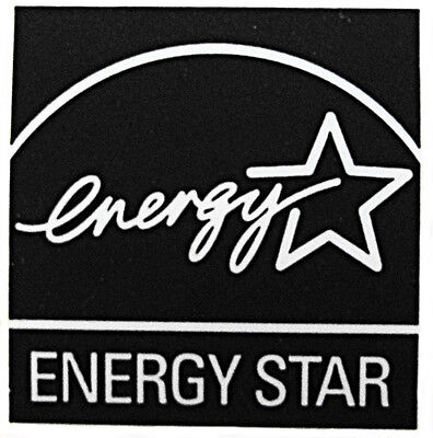 ENERGY STAR BLACK  STICKER LOGO AUFKLEBER 13x13mm (325)