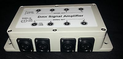 8 way DMX splitter amplifier + power supply UK Seller