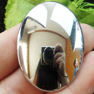 Colorful Silver Hematite Oval CAB CABOCHON 40x30mm D7980