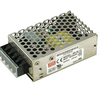 25W Switching Power Supply Mean Well RS-25 26.4W 24v PSU Enclosed Driver