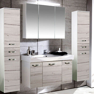 komplett badm bel set wei glas pink badezimmer spiegelschrank badezimmerm bel eur 789 00. Black Bedroom Furniture Sets. Home Design Ideas