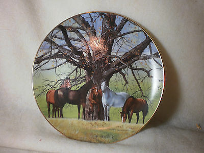 "Danbury Mint ""meeting Place"" Plate By Don Patterson Broodmares Under Oak Tree"