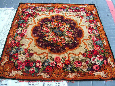 Beautiful antique velvet fabric flower Cover the table or bed