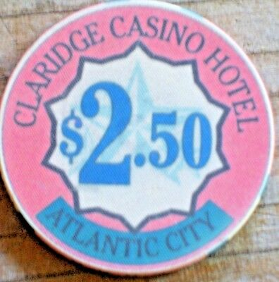 $2.50 4Th Edt Del Webb's Claridge Casino Atlantic City Gaming Chip