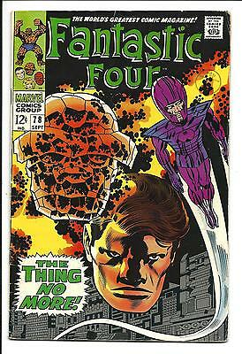 Fantastic Four # 78 (Thing No More, Sept 1968), Fn