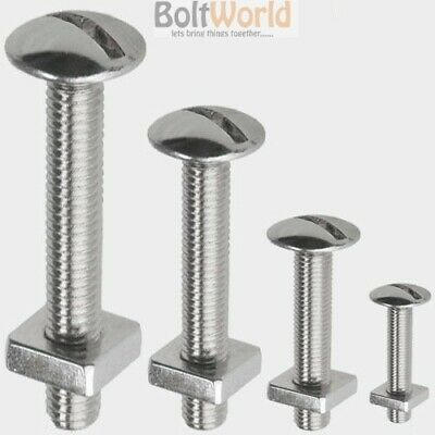 A2 Stainless Steel Slotted Roofing Roof Mushroom Head Machine Bolts Sqaure Nuts