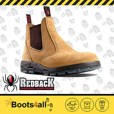 Redback Work Boots UBBA Easy Escape Soft Toe Banana Suede Leather UK SIZE