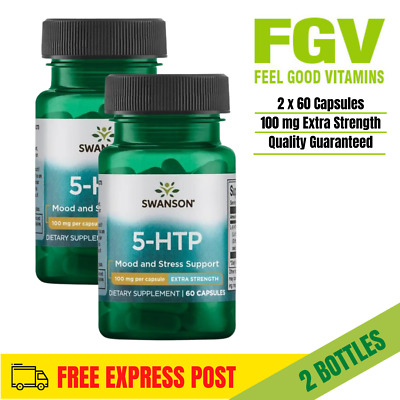 SWANSON 5htp 100mg EXTRA STRENGTH for MOOD MIND SLEEP total 120 capsules