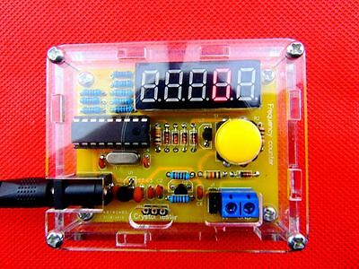 1Hz-50MHz Crystal Oscillator Frequency Counter Meter Digital LED PIC + case DIY