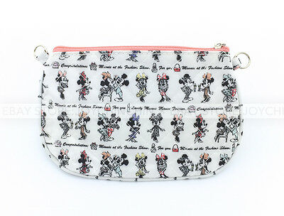 Disney Mickey Mouse & Minnie Mouse At The Fashion Show Quilted Purse Coins Bag