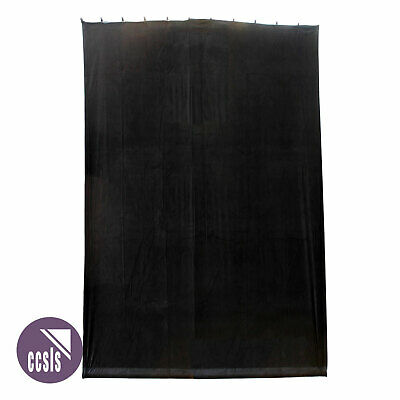 Bravo 6M X 9M Black Cotton Velvet Stage Curtain - Flat _ 69B