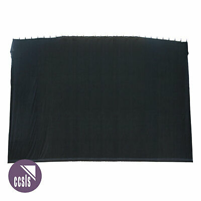 Bravo 9M X 6M Black Cotton Velvet Stage Curtain - Flat _ 96B