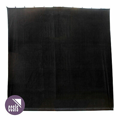 Bravo 9M X 9M Black Cotton Velvet Stage Curtain - Flat _ 99B