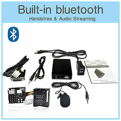 Bluetooth MP3 CD Changer Adapter + USB AUX Extension for Mini Cooper R50 R52 R53