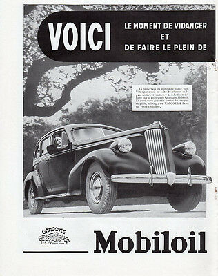 Mobil Oil Artic 2 Pages 1937 French Ad Print Advert Publicite