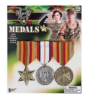 Military Medals (3 Pieces).