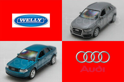 Welly 1:60 DIECAST Audi Q3 / Audi A4 Car Model COLLECTION Christmas New Gift
