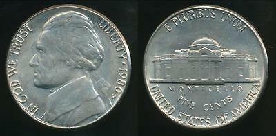 United States, 1980-D 5 Cents, Jefferson Nickel - Uncirculated