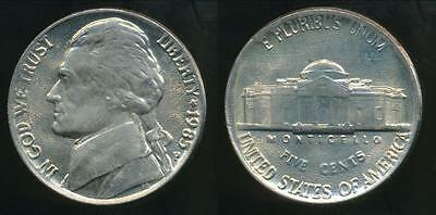 United States, 1985-P 5 Cents, Jefferson Nickel - Uncirculated