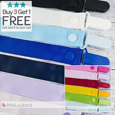 25mm Solid Colours Dummy Clip - Pacifier Clips - Soother Chain - Baby Gift
