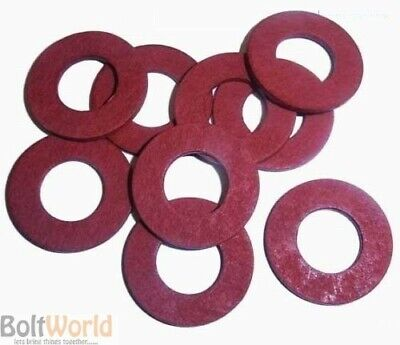 M20 / 20mm RED FIBRE FLAT SEALING WASHER WASHERS NON CONDUCTIVE STANDARD BS6091