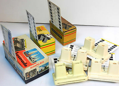 STEREOSCOPES X 18 - COLLECTION de VIEW-MASTERS STEREO - 3 D + 50 CARTES couleur
