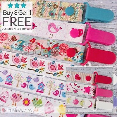 Birds Dummy Clip - Pacifier Clips - Soother Chain - Baby Gift