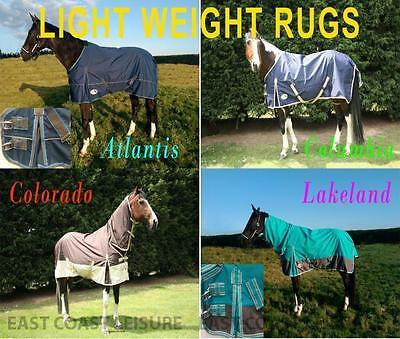 Lightweight No Fill Turnout Rug  Combo Neck Or Standard Neck Horse And Pony
