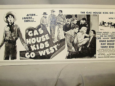 Alfalfa  in Gas House Kids Go West Coming Attraction Movie  Window Card