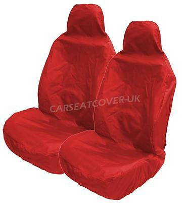 Heavy Duty RED Waterproof Car Seat Covers for AUDI S LINE 2 x Fronts