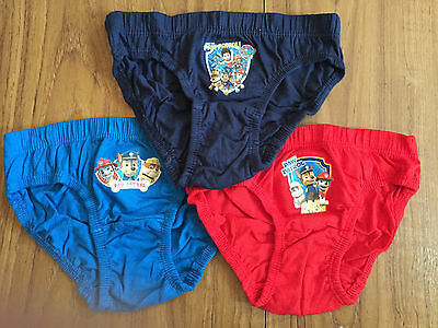 Brand New Boys Official Nick Jr Paw Patrol Pants Briefs Underwear 3 Pack
