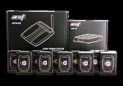 Wireless Staff Server Paging System Arct with Transmitter and 20 Pagers - Newest
