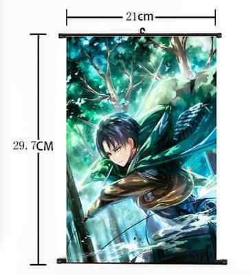 HOT Anime Attack on Titan Wall Poster Scroll Home Decor Cosplay 250
