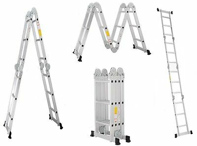 16 Ft Aluminum 7 Functions Folding Platform Ladder High Quality Shipping From US