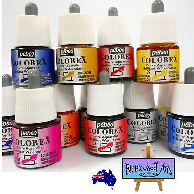 Pebeo Colorex Watercolour Inks - 45ml Bottles 20 Colors + Flat Rate Postage