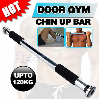 Chin Pull Up Bar Doorway Gym Fitness Exercise Trainer Machine Heavy Duty