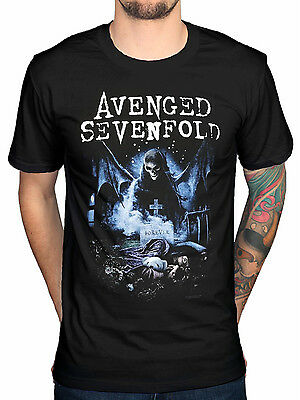 Official Avenged Sevenfold Recurring Nightmare T-Shirt A7X Band Seventh Trumpet