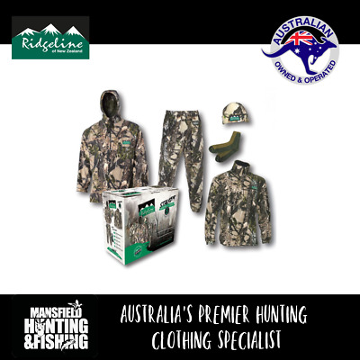 Ridgeline Stalker Pack - Camo, 5 Piece Fleece Camo Hunting Clothing Pack, RLCXSX