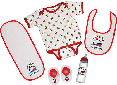 Rivers Edge - Fishing 5 Piece Baby Outfit for ages 0 to 6 months, Baby Gift
