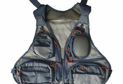 Norstream Fly Fishing Vest with 18 pockets - one size fits most, Fly Vest