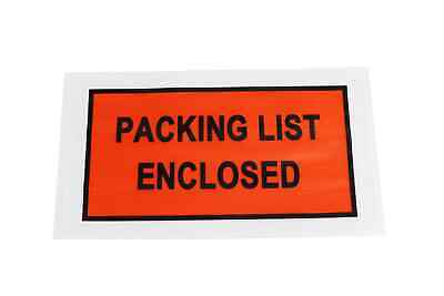 """Packing List Enclosed Envelope 5.5"""" x 10"""" Full Face 1000 Pieces/Case"""