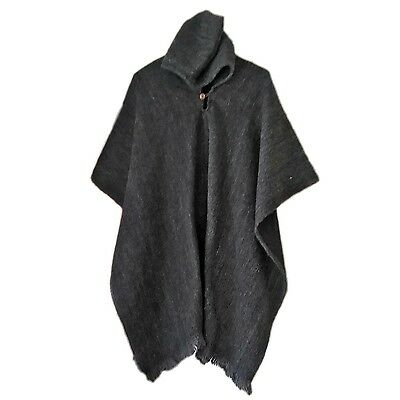 WHOLESALE LOT of 35 100% LLAMA WOOL MENS PONCHOS WITH HOOD HANDWOVEN IN ECUADOR