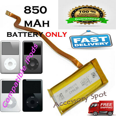 850 mAh Replacement Extended battery for iPod classic 5th 6 gen 30GB 30GB A1238