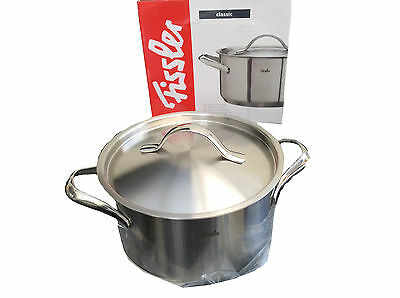 FISSLER Classic - Casserole - Stockpot with Lid, 20cm - 3.3L - Stainless Steel