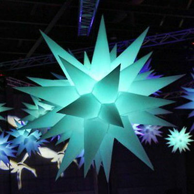 Led Inflatable star party decor event with led RGB inflatable decoration wedding