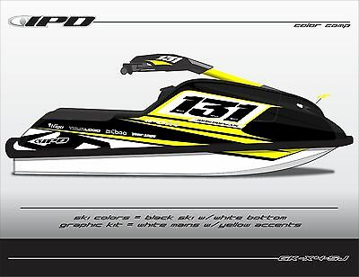 IPD X4 Design Graphic Kit for 1996 & Up Yamaha SuperJet