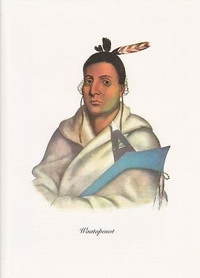 "1972 Vintage Full Color Art Plate /""CHIEF TOKACOU/"" NATIVE AM INDIAN Lithograph"