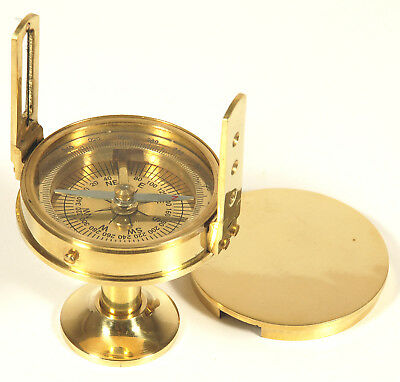 """2 1/2"""" Stand Survey Compass Solid Brass"""