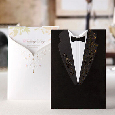 Set Wedding Invitation Cards With Envelopes+Seals+Custom Personalized Printing